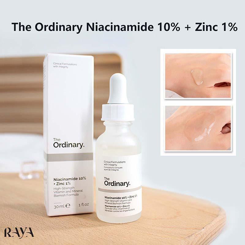 سرم ضد جوش نیاسینامید 10% + زینک 1% اوردینری حجم 30 میلی لیترThe Ordinary Niacinamide 10% + Zinc 1%