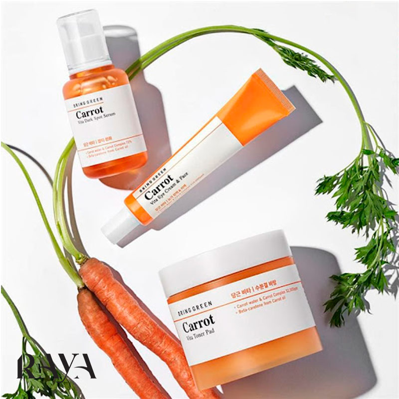 کرم ویتامینه دور چشم و صورت هویج برینگ گرین کاروت حجم 30 میل Bring Green Carrot Vita Eye Cream & Face