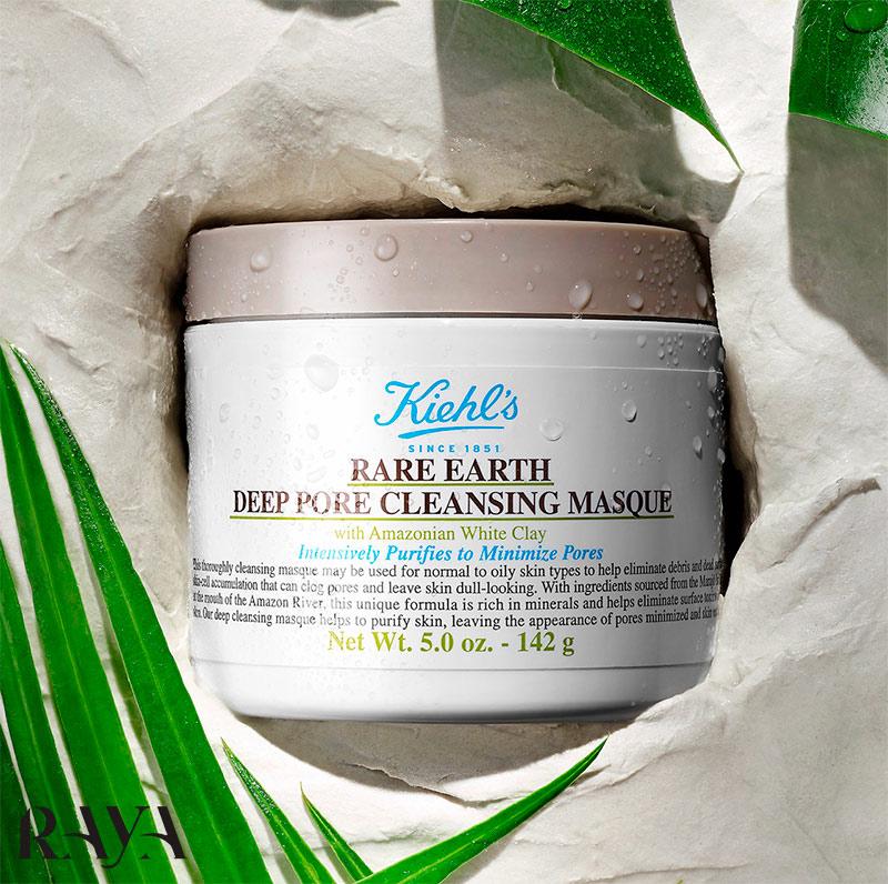 ماسک خاک رس کیلز پاکسازی کننده و کوچک کننده منافذ حجم 30 میل Kiehl's Rare Earth Deep Pore Minimizing Cleansing Clay Mask
