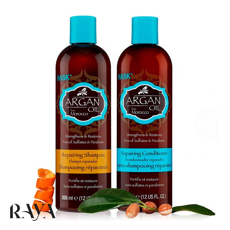 روغن ترمیم کننده مو آرگان هاسک حجم 59 میلی لیترHASK Argan Oil From Morocco Repairing Hair Oil strengthens and restores